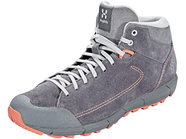 Haglöfs Roc Lite Mid Shoes Women Magnetite/Coral Pink